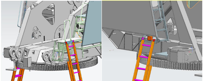 HEIGHT WORK SYSTEM - STAIRS AND BODY GUARD TO UP IN THE SUPER STRUCTURE